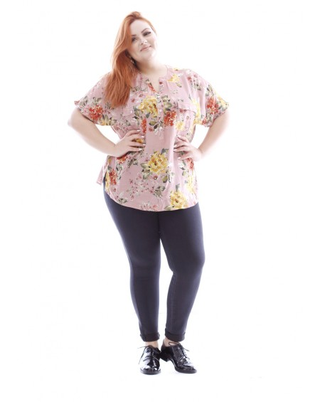 BLOUSE GRANDE TAILLE FLEURIE